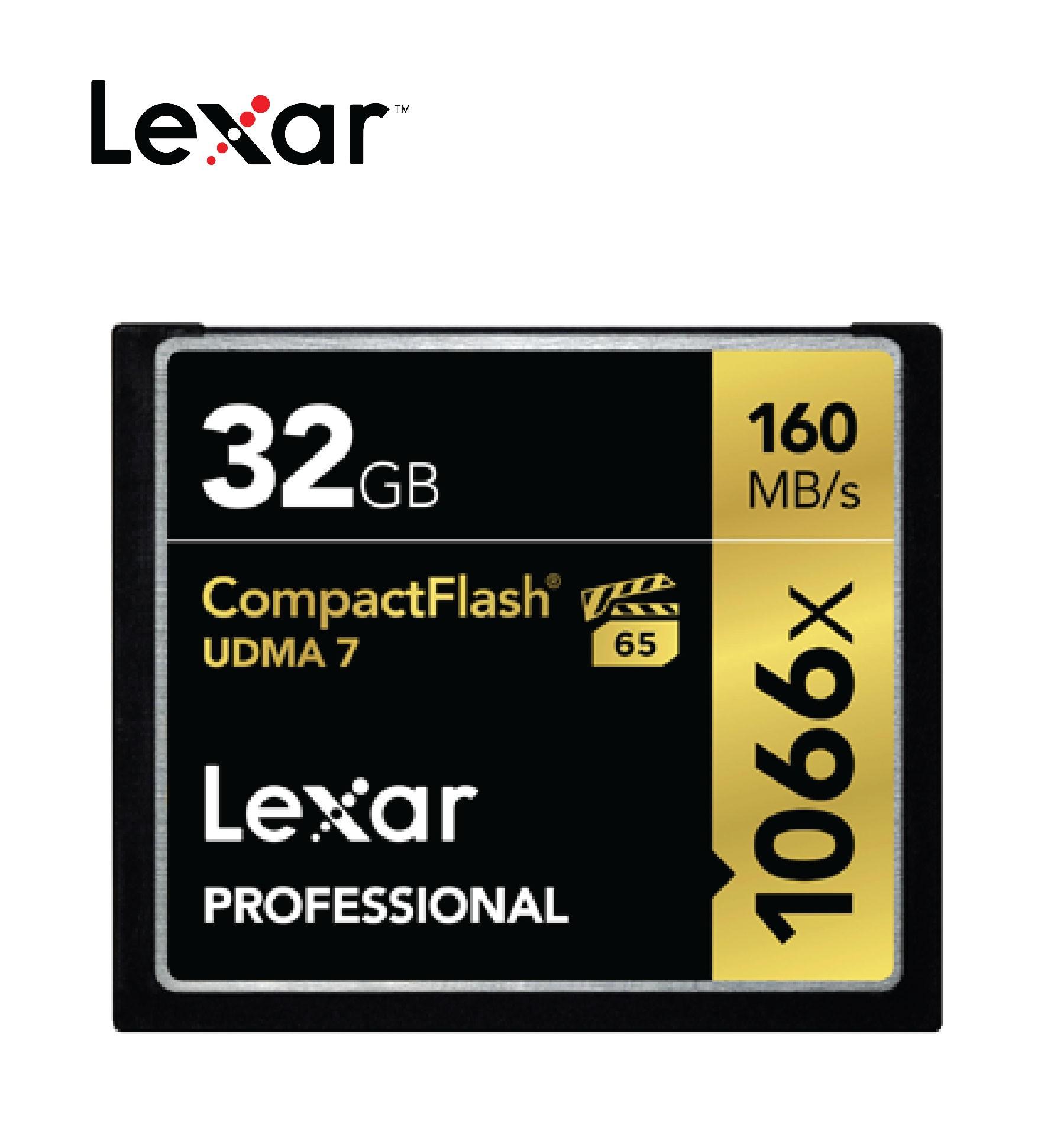 Thẻ Nhớ CF Lexar 32GB Professional 1066x - Hàng chính hãng - LCF32GCRBAP1066