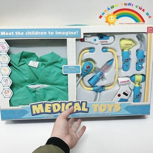 Đồ Chơi Trẻ Em Bác sĩ kèm quần áo medical toys  [ĐỒ CHƠI TRÍ TUỆ]