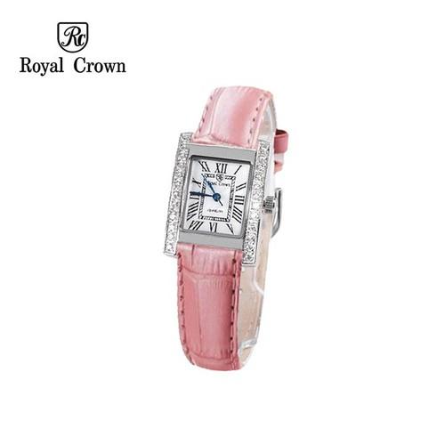 Đồng hồ nữ chính hãng Royal Crown 6306 dây da hồng