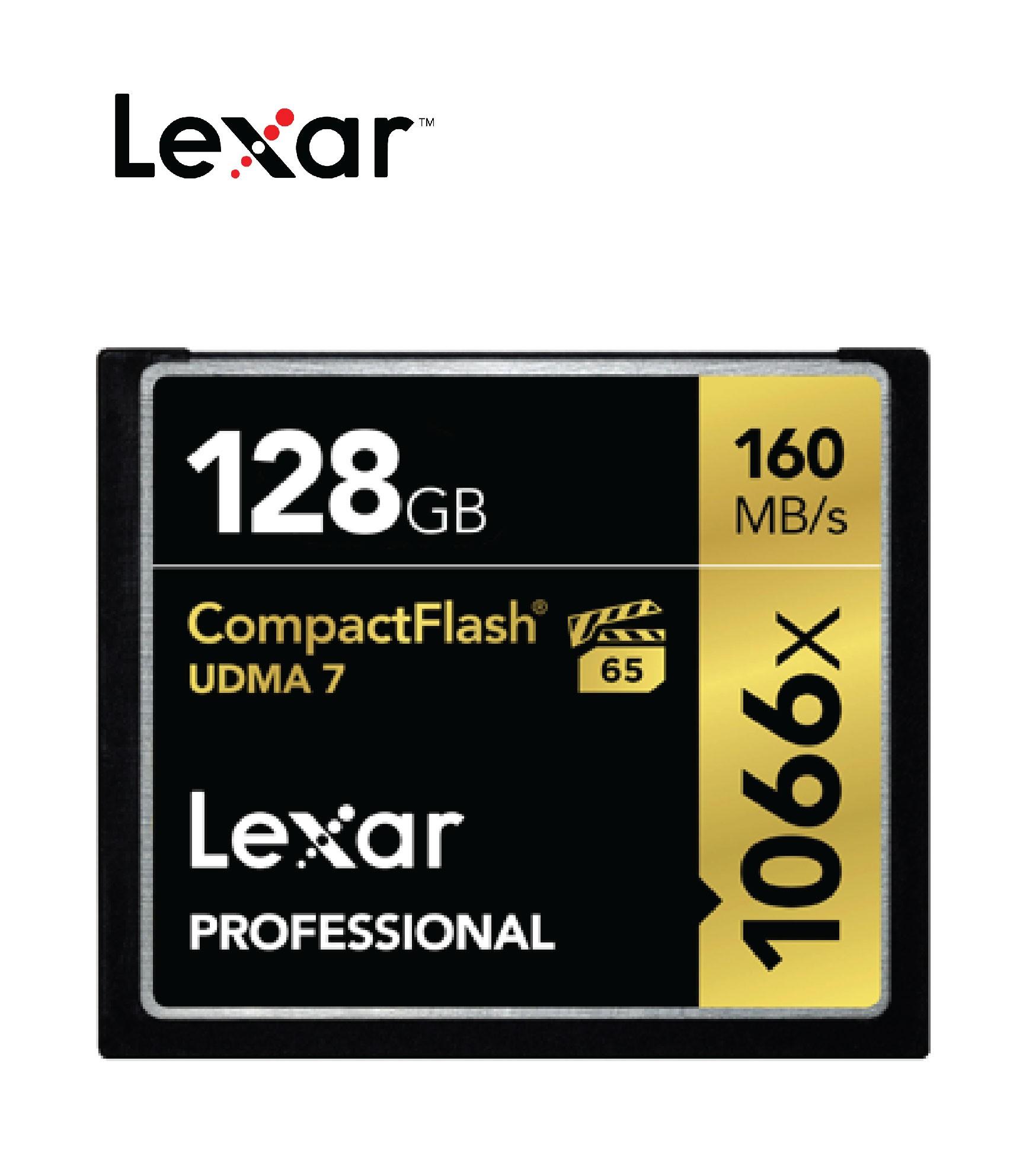 Thẻ Nhớ CF Lexar 128GB Professional 1066x- Hàng chính hãng - LCF128CRBAP1066