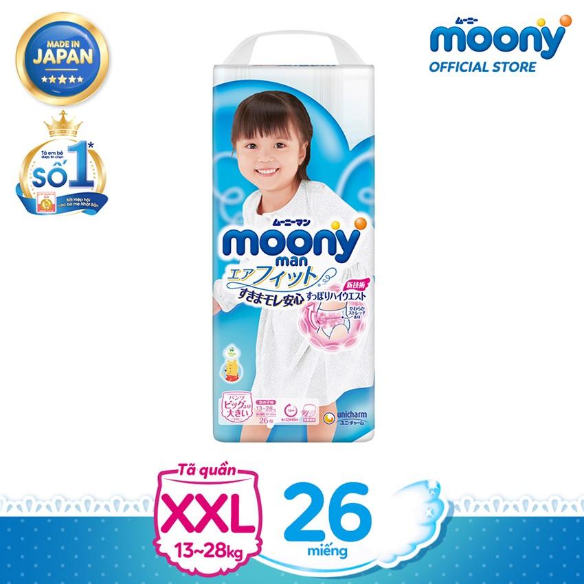 Tã quần cao cấp Moony Girls XXL26 - Nhập khẩu từ Nhật Bản - 4903111168453