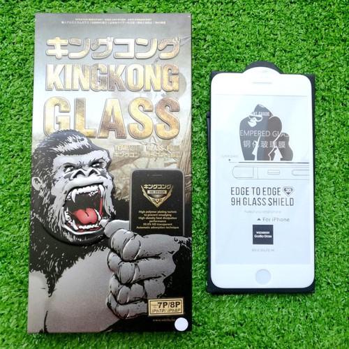 Miếng Dán Cường Lực iPhone 7 Plus 8 Plus Hiệu Kingkong Màu Trắng