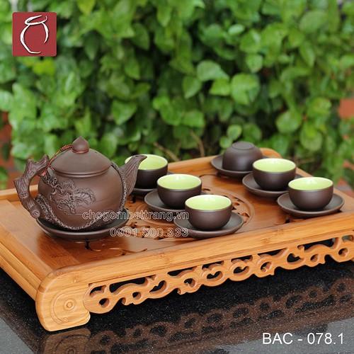 Bộ ấm chén tử sa đen đắp nổi cây Tùng và phụ kiện - kèm khay cao cấp gốm sứ Bảo Khánh Bát Tràng - bộ bình uống trà cao cấp - 6667602 , 16703749 , 15_16703749 , 1510000 , Bo-am-chen-tu-sa-den-dap-noi-cay-Tung-va-phu-kien-kem-khay-cao-cap-gom-su-Bao-Khanh-Bat-Trang-bo-binh-uong-tra-cao-cap-15_16703749 , sendo.vn , Bộ ấm chén tử sa đen đắp nổi cây Tùng và phụ kiện - kèm khay