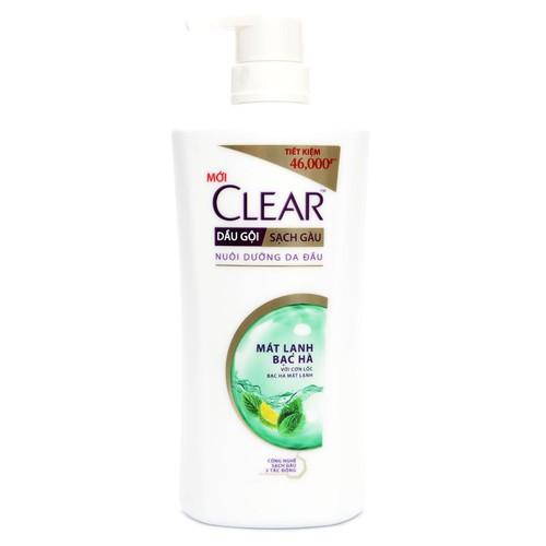 DẦU GỘI CLEAR BẠC HÀ 650 g