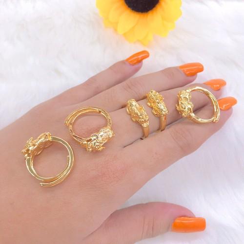 nhẫn nữ tỳ hưu may mắn dát vàng 18k - 6672509 , 16707243 , 15_16707243 , 219000 , nhan-nu-ty-huu-may-man-dat-vang-18k-15_16707243 , sendo.vn , nhẫn nữ tỳ hưu may mắn dát vàng 18k