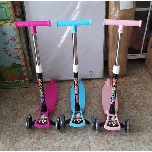 Xe trượt Scooter 3 chế độ hàng Cao cấp - Có phanh chân, điều chỉnh cao thấp