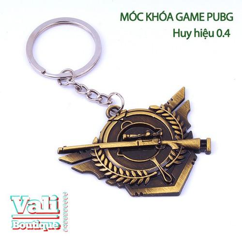 Móc khóa game PUBG - huy hiệu 0.4 - 5cm - mua 1 tặng 1
