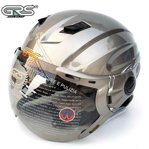Mũ bảo hiểm - Nón bảo hiểm - Nón bảo hiểm GRS - Mũ Bảo Hiểm Nửa Đầu GRS A737K màu xám bóng