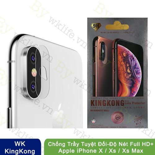 Cường Lực Camera Iphone X, Xs, Xs Max WK KingKong