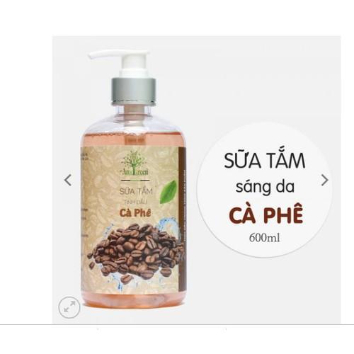 SỮA TẮM  TINH DẦU CAFE AMEGREEN 600ML