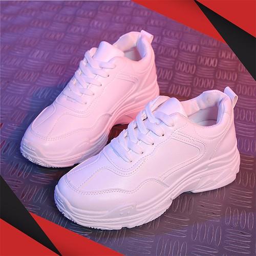 Giày Sneaker Nữ Tenten Da PU Đế Độn GTT003W