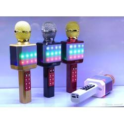 Micro Karaoke WS-1828 Kèm Loa Hát + Đèn Led