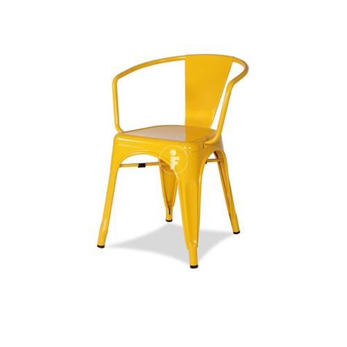 Ghế Cafe Lưng Thấp Furnist Tolix Vàng