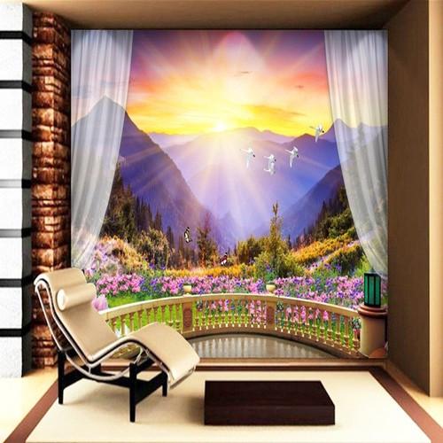 Tranh dán tường cửa sổ 80x120cm TDT37