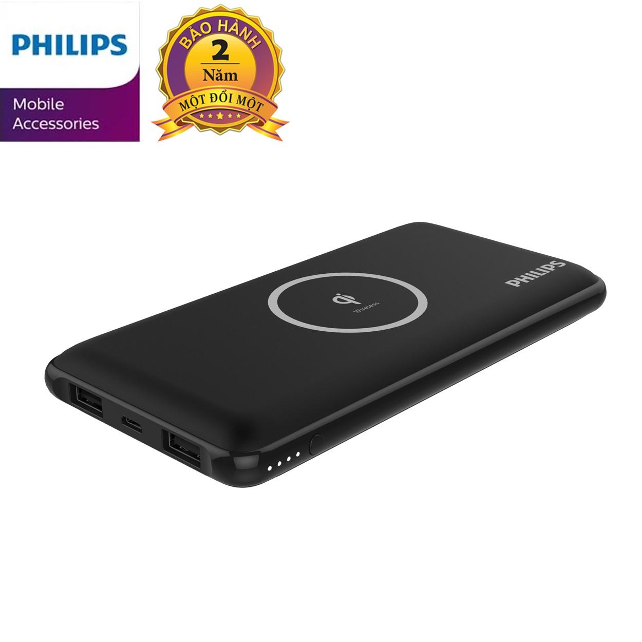 Sạc dự phòng không dây Philips DLP9611 với công nghệ Qi