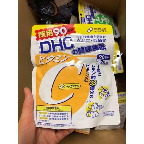 viên uống vitamin c dhc gói 90 ngày kèm bill