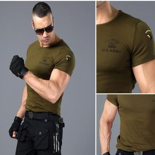 Áo thun phong cách lính