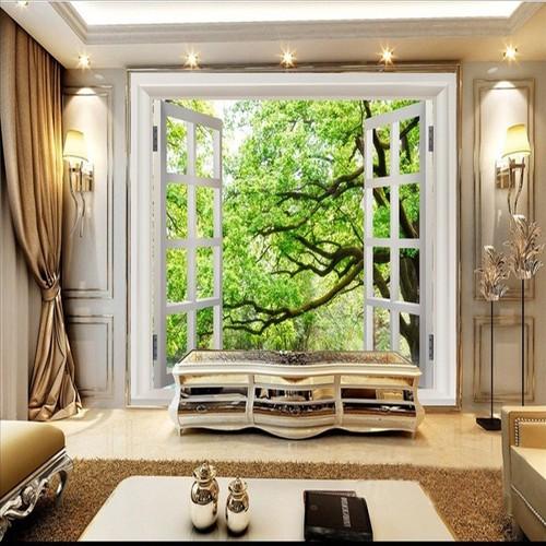 Tranh dán tường cửa sổ 100x150cm  TDT116