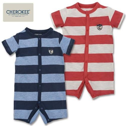 Bodysuit bé trai Cherokee sọc trắng đỏ size 60-70