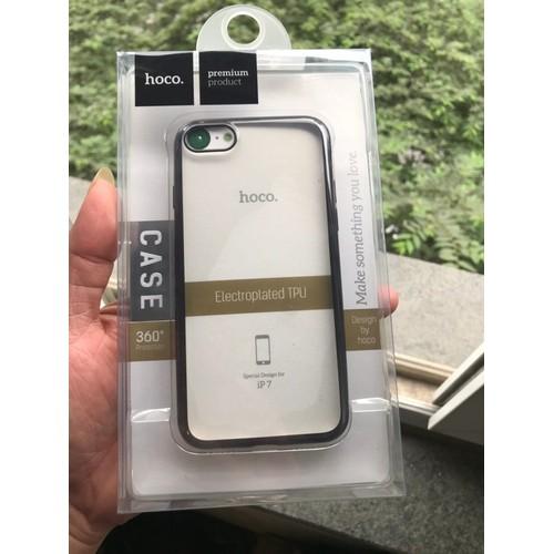 Ốp lưng silicon dẻo viền màu cho IPhone 7 IPhone 8