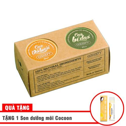 Combo Cao bí đao và Cao vỏ bưởi 2 x 30ml Tặng 1 son dưỡng môi Cocoon - 6662126 , 16699250 , 15_16699250 , 155000 , Combo-Cao-bi-dao-va-Cao-vo-buoi-2-x-30ml-Tang-1-son-duong-moi-Cocoon-15_16699250 , sendo.vn , Combo Cao bí đao và Cao vỏ bưởi 2 x 30ml Tặng 1 son dưỡng môi Cocoon