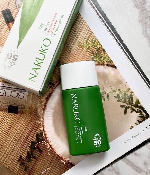 Kem Chống Nắng Tràm Trà Naruko Tea Tree Anti-Acne SPF50 2