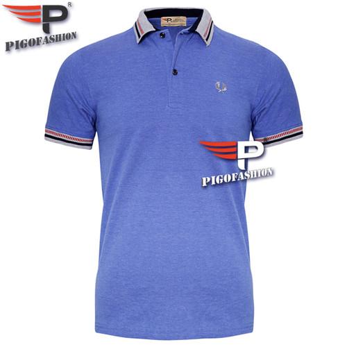 Áo thun nam Polo cổ phối hiện đại chuẩn mọi phong cách AHT12 -3- xanh Ya