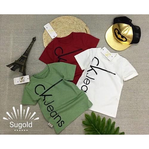 Áo thun bé trai đơn giản, lịch lãm, phong cách từ 10kg đến 32kg - Size đại - Đỏ đô