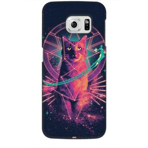 Ốp lưng nhựa dẻo dành cho Samsung Galaxy S6 Edge in Cat Marvel Mẫu 2