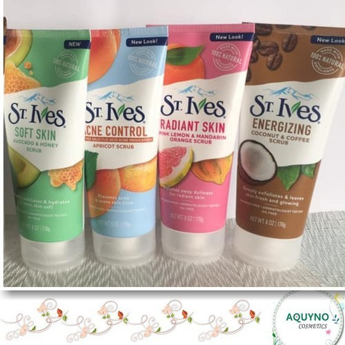 Sữa Rửa Mặt Tẩy Tế Bào Chết  St.ives Radiant Skin Pink Lemon & Mandarin Orange Face Scrub 170g - SRMSTCrk