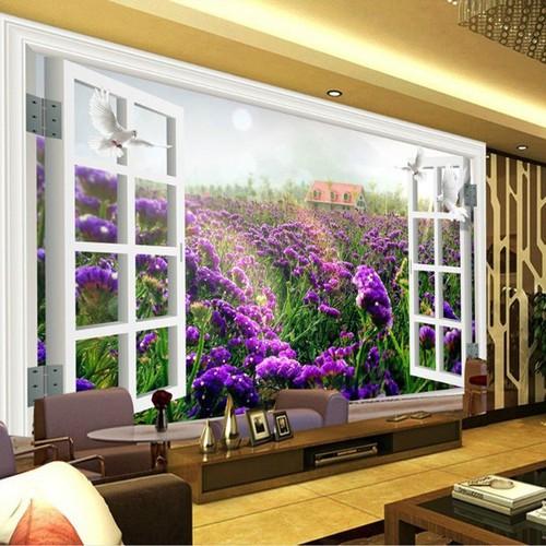 Tranh dán tường cửa sổ 110x160cm TDT151