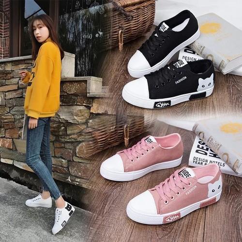 Giày sneaker nữ cổ thấp Mèo xinh siêu hot - 6707934 , 16734033 , 15_16734033 , 265000 , Giay-sneaker-nu-co-thap-Meo-xinh-sieu-hot-15_16734033 , sendo.vn , Giày sneaker nữ cổ thấp Mèo xinh siêu hot