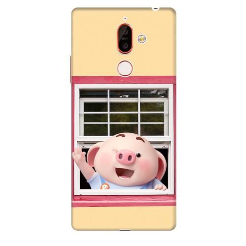 Ốp lưng nhựa dẻo dành cho Nokia 7 Plus in hình Heo Con Chào Ngày Mới