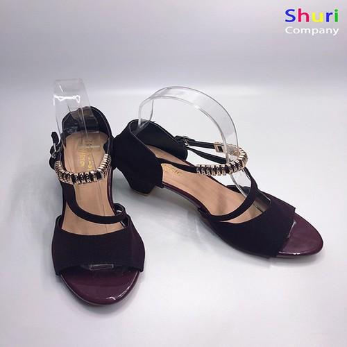 Giày cao gót nữ - ZR01 đỏ mận