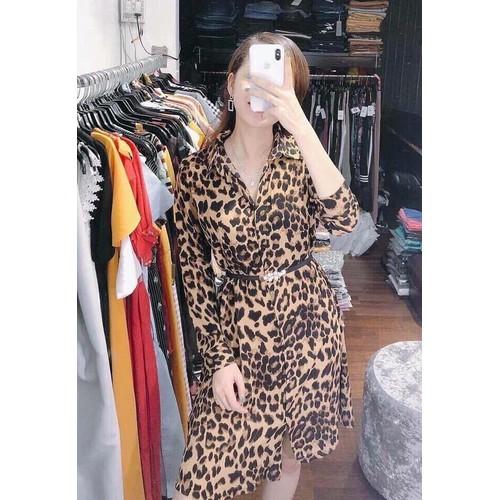 Đầm Sơ Mi Da Beo PN015