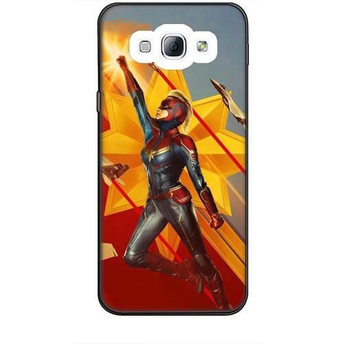 Ốp lưng nhựa dẻo dành cho Samsung Galaxy A8 Hình Captain Marvel Mẫu 7