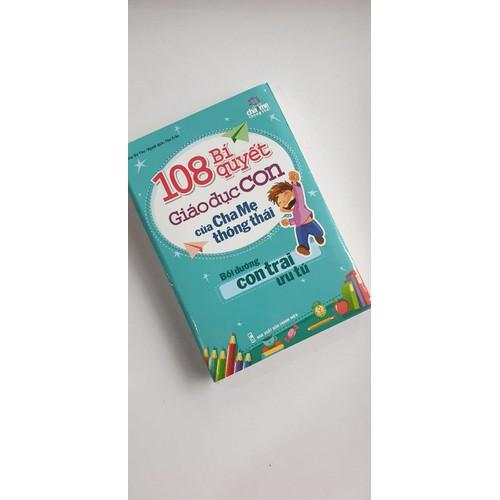 sách 108 bí quyết giáo dục con của cha mẹ thông thái con trai ưu tú