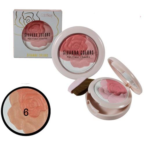 Phấn Má Hồng Hoa Cương Sivanna Colors Glow Fleur Hàn Quốc 12g - No.1 Tone cam