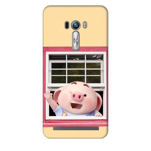 Ốp lưng nhựa dẻo dành cho Asus Zenfone Selfie ZD551KL in hình Heo Con Chào Ngày Mới
