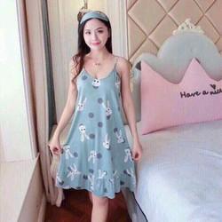 đầm ngủ big size tặng bịt mắt hoặc băng đo size lớn 45-75kg