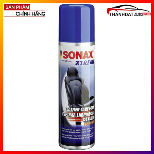 Chai Xịt Dạng Bọt Làm Sạch & Chăm Sóc Da Sonax Xtreme Leather Care NanoPro 250ml