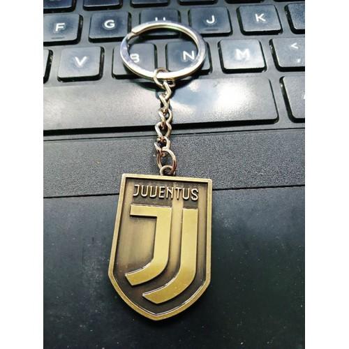 Móc khoá in nổi 2 mặt Juventus