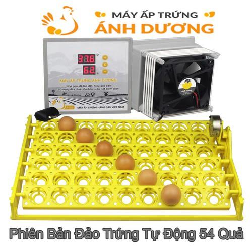 Máy ấp trứng gà mini ánh dương p100 đảo trứng tự động 54 quả - tặng 01 thuốc úm gà - hướng dẫn sử dụng
