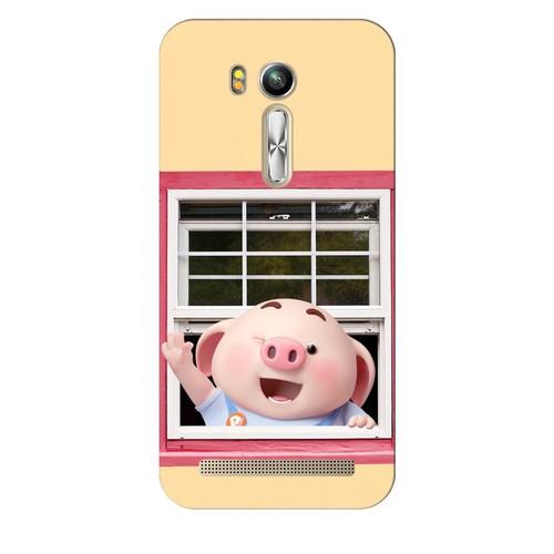 Ốp lưng nhựa dẻo dành cho ASUS ZenFone Go TV ZB551KL in hình Heo Con Chào Ngày Mới