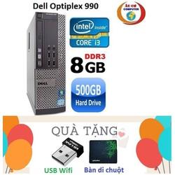 Máy tính đồng bộ Dell Optiplex 990 Core i3 2100 , Ram  8G , HDD 500G - Tặng USB Wifi , Bàn di chuột , Bảo hành 24 tháng