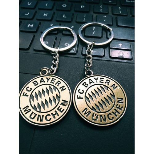 móc khoá logo in nổi 2 mặt Bayern Munich