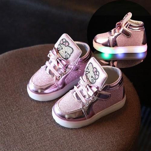 Giày hồng mèo kitty cho bé gái