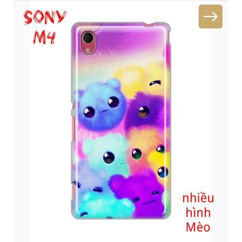 Ốp Lưng Sony M4 Nhiều Hình Chú Mèo