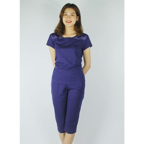 Freeship 149k - bộ mặc nhà bộ đồ nữ màu xanh than
