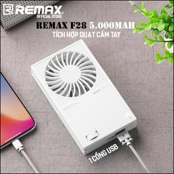Pin sạc dự phòng Remax F28 5000mAh kiêm quạt cầm tay mini - có một cổng USB sạc ra